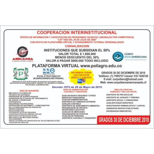OFERTA DE INFORMACION Y CAPACITACIONES DE PROGRAMAS TECNICOS